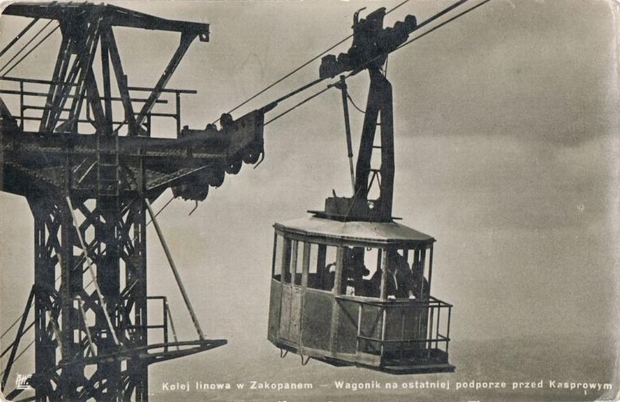 Kolej liniowa na Kasprowy Wierch dawniej