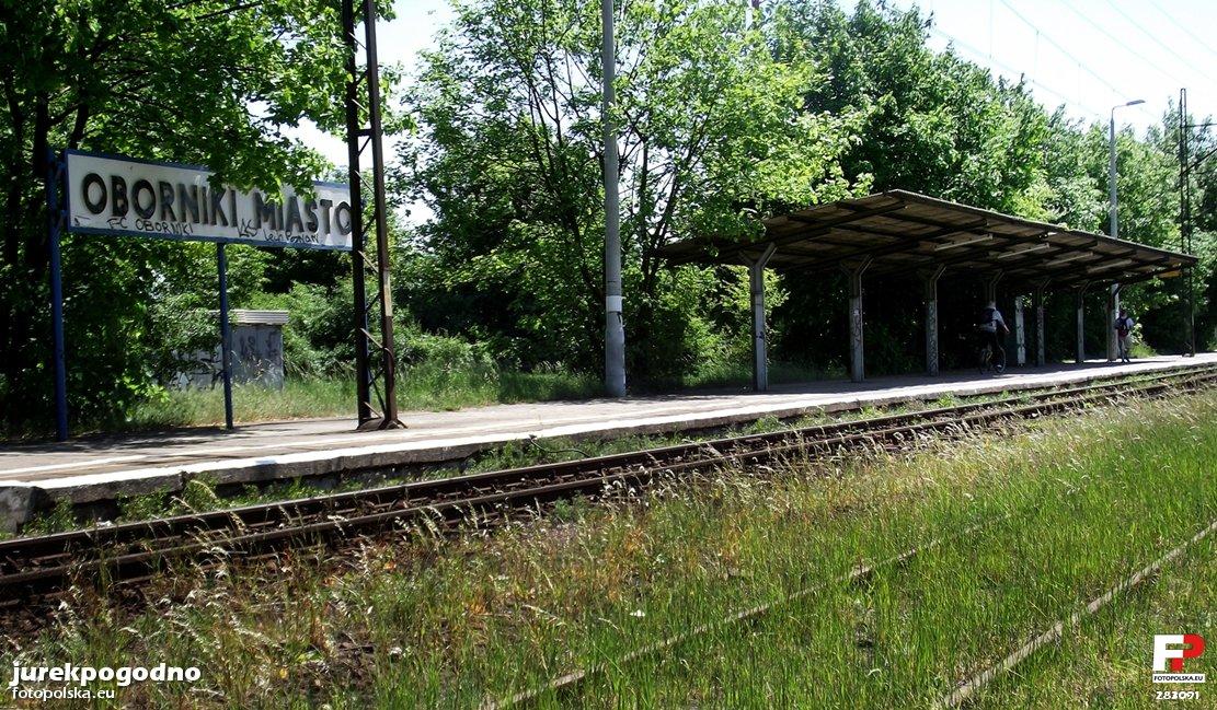 Przystanek Kolejowy Oborniki Wielkopolskie Miasto Oborniki Zdjęcia