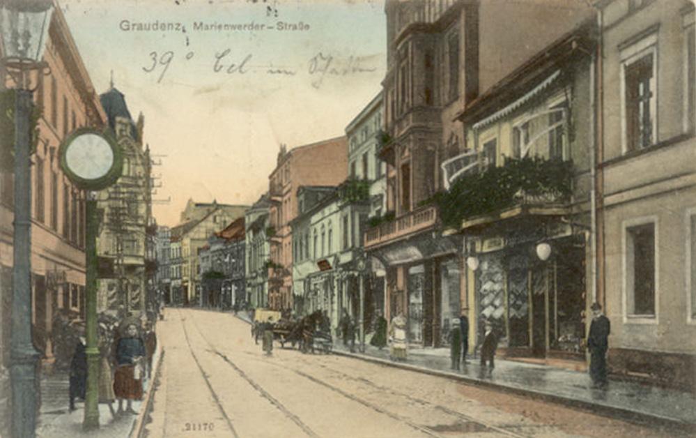 Ul Wybickiego Józefa Marienwerderstrasse Grudziądz 1908 Rok