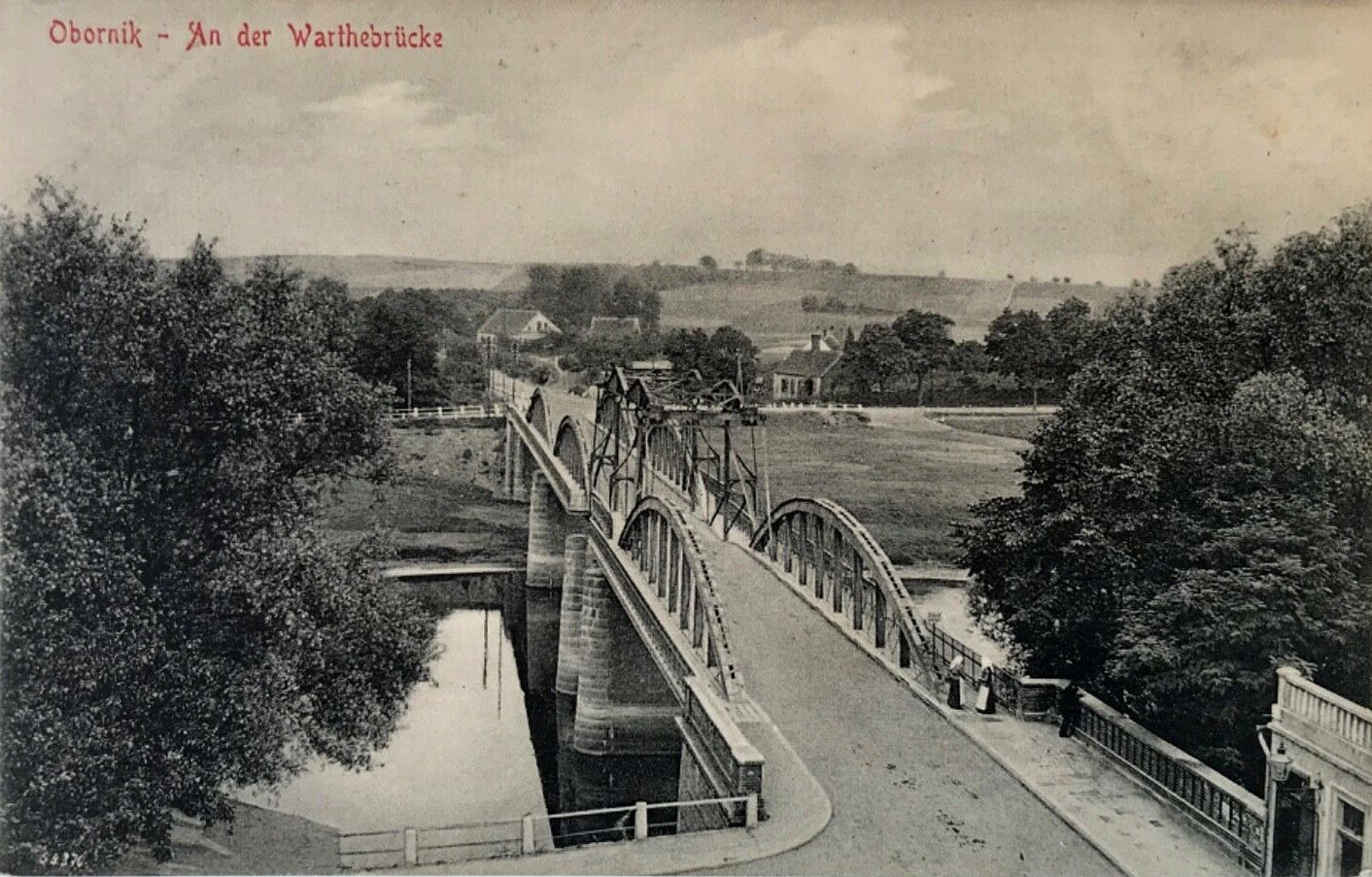 Most Oborniki 1912 Rok Stare Zdjęcia