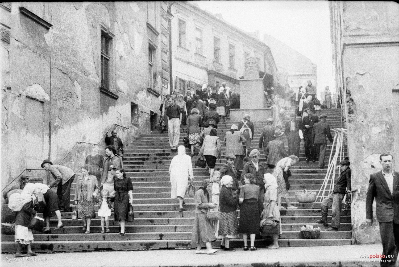 Ul Wielkie Schody Schodowa Tarnow 1953 Rok Stare Zdjecia