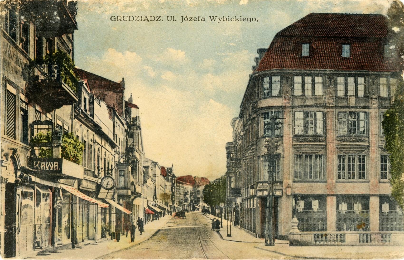 Ul Wybickiego Józefa Marienwerderstrasse Grudziądz 1920 Rok