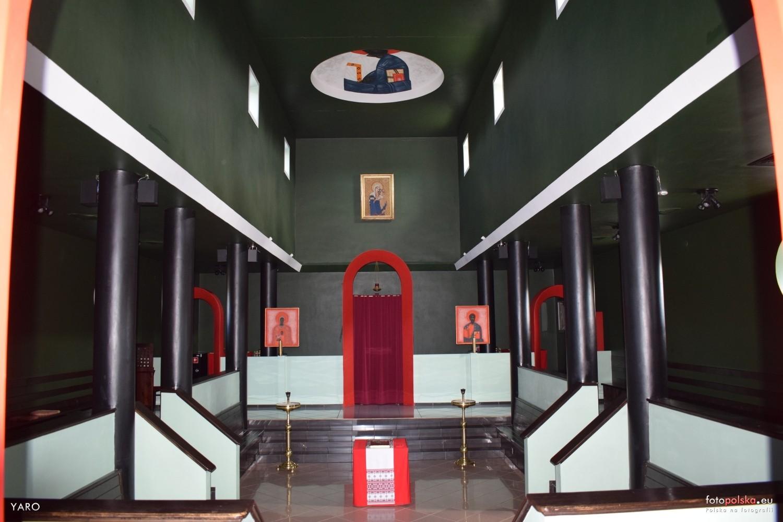 Wnętrze cerkwi w Białym Borze
